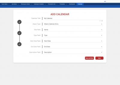 NSerio App - Calendar