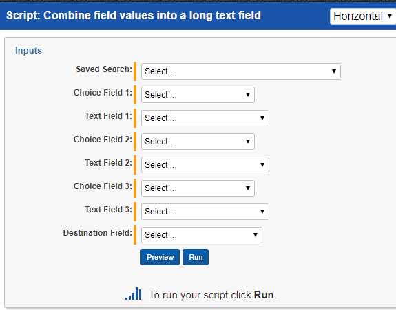 Combine Field Values Into A Long Text Field